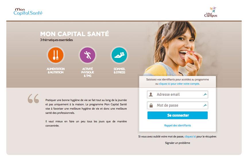 Présentation de l'accès à la plateforme de Mon Capital Santé