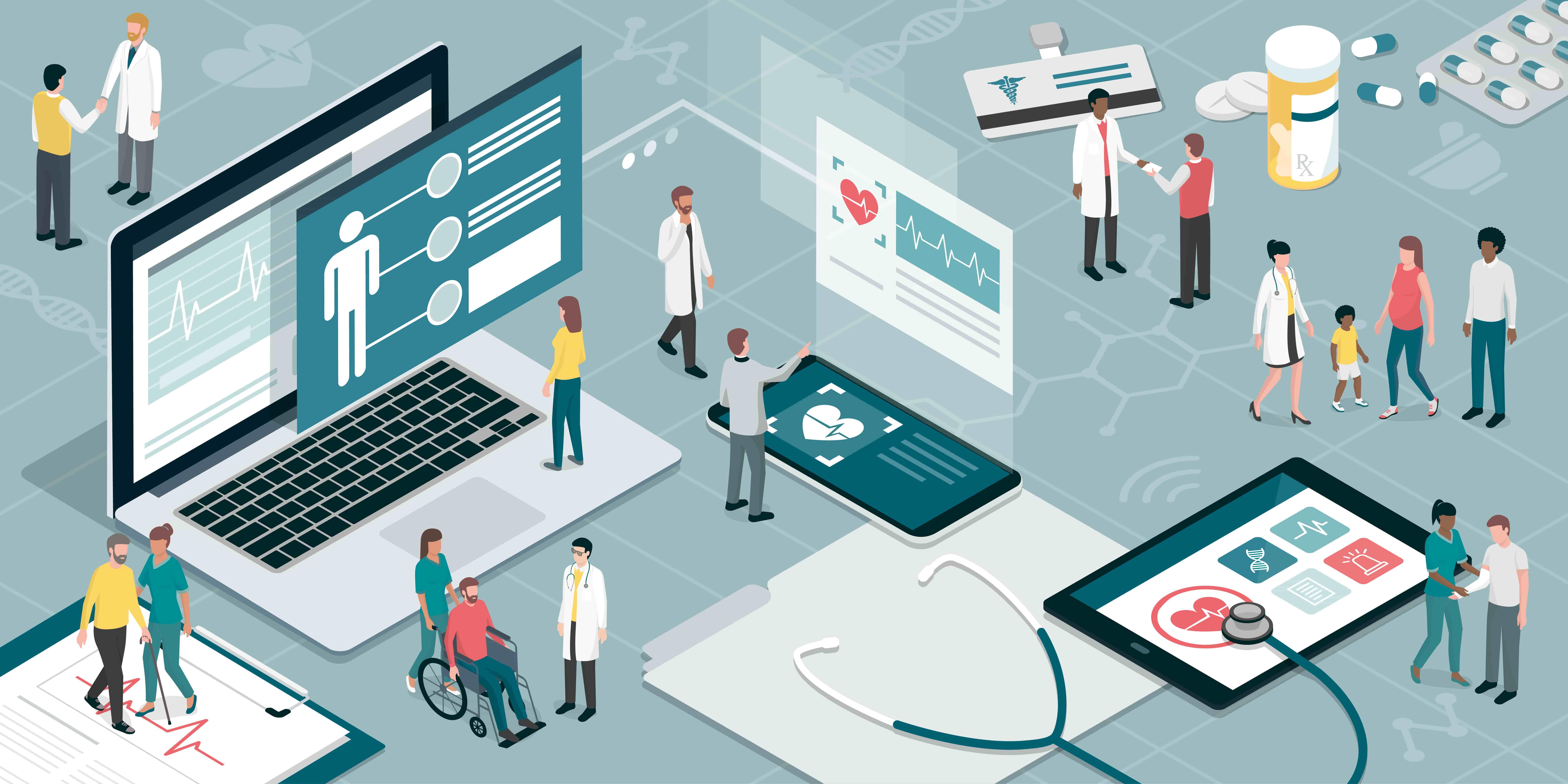 Graphique représentant les salariés au contact de conseillers santé, et utilisant des équipements de suivi de leur état de santé, dont des programmes en ligne