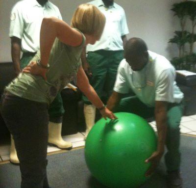 Photo d'un atelier sur les bons gestes et postures
