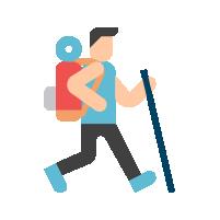 Pictogramme représentant un homme faisant de la marche sportive