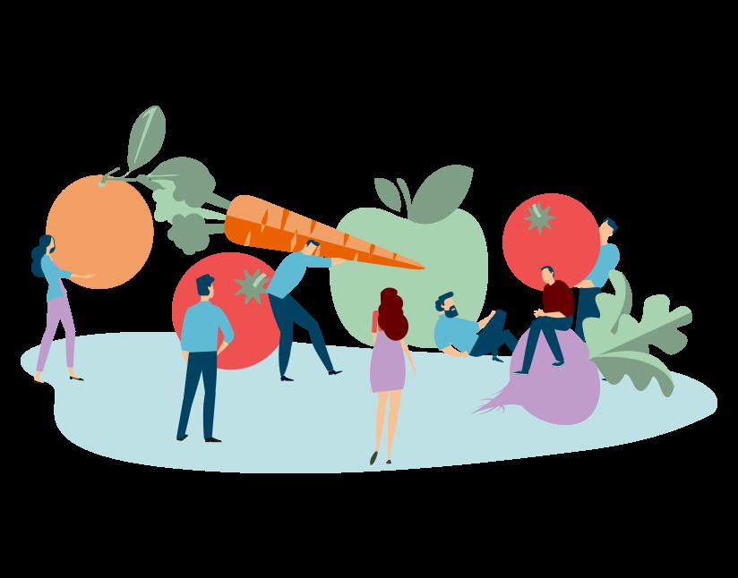 Image représentant des salariés dans un atelier alimentation nutrition