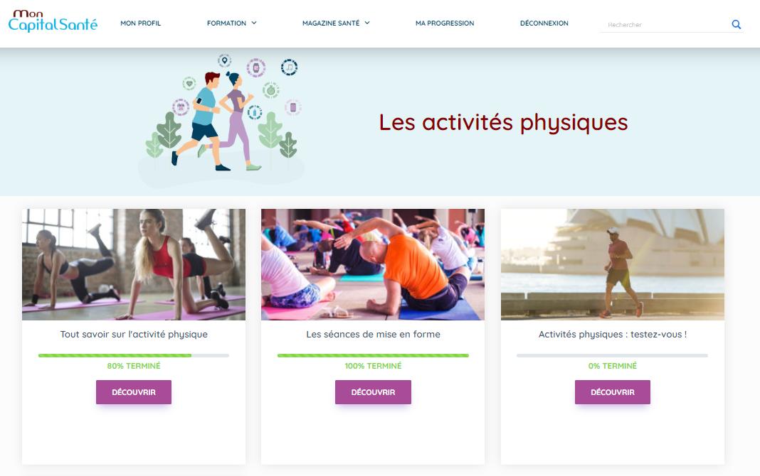 Extrait de Mon Capital Santé sur la thématique activités physiques